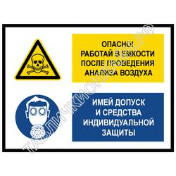 Опасно! Работай в ёмкости после проведения анализа воздуха