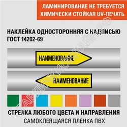 Маркировочные стрелки на трубопровод с надписью односторонние