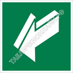 Изображение эвакуационного знака E 19   Открывать движением на себя ГОСТ Р 12.4.026-2015