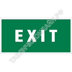 Изображение эвакуационного знака E 28   Указатель выхода ГОСТ Р 12.4.026-2015