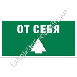 Изображение эвакуационного знака E 32   Открывать движением от себя ГОСТ Р 12.4.026-2015